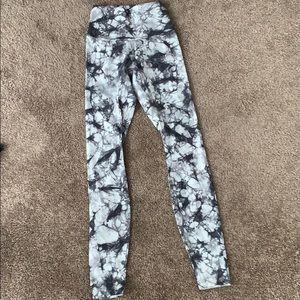 """Lululemon Tie Dye Wunder Under 28"""" pants"""